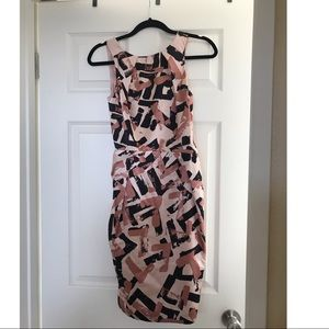 Topshop 100% Silk Dress Rose gold size 4